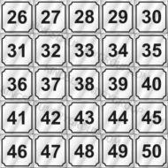 "# ND2650   2"" Number Decals (25 pcs. Per Sheet)"