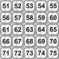 "# ND5175   2"" Number Decals (25 pcs. Per Sheet)"