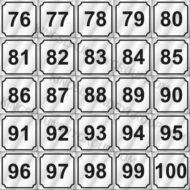 "# ND76100   2"" Number Decals (25 pcs. Per Sheet)"