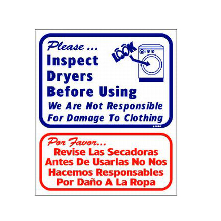 L809 Inspect Dryers Before Using